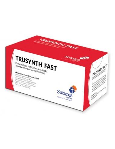 SUTURA ASS. TRUSYNTH FAST calibro 3/0, curva 1/2, ago 17 mm - 70 cm - incolore