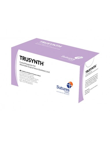 TRUSYNTH ABSORB. SUTURE gauge 3/0 circle 1/2 needle 19mm - 75cm - violet