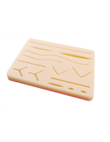 SUTURE TRAINING PAD WITH WOUNDS WITH MESH