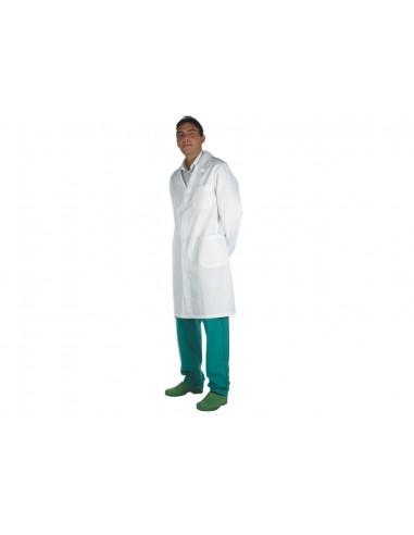 TABLIER MÉDICAL BLANC - coton - homme taille 44 (F40)