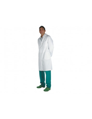 TABLIER MÉDICAL BLANC - coton - homme taille 46 (F42)
