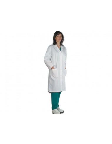 TABLIER MÉDICAL BLANC - coton - femme taille 52 (F48)