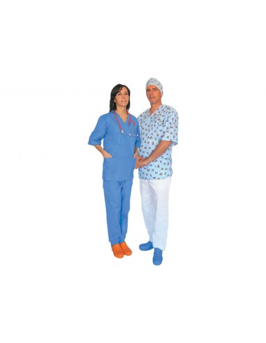 PANTALON - coton bleu clair - taille XS