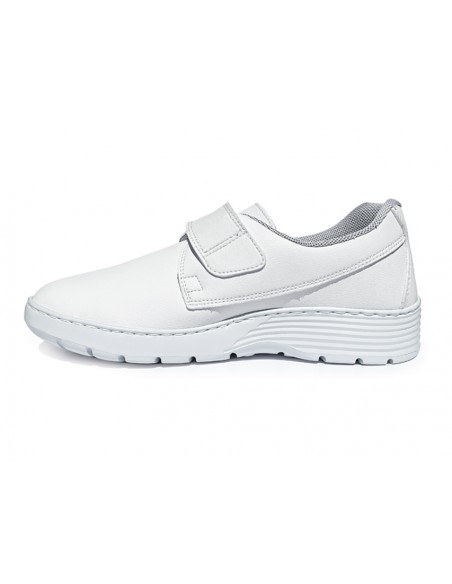 HF200 SNEAKERS PROFESSIONNELLES - 42 - bande velcro - blanches