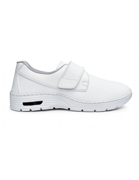 HF200 SNEAKERS PROFESSIONNELLES - 46 - bande velcro - blanches
