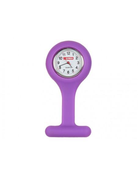 SILICONE NURSE WATCH - round - purple