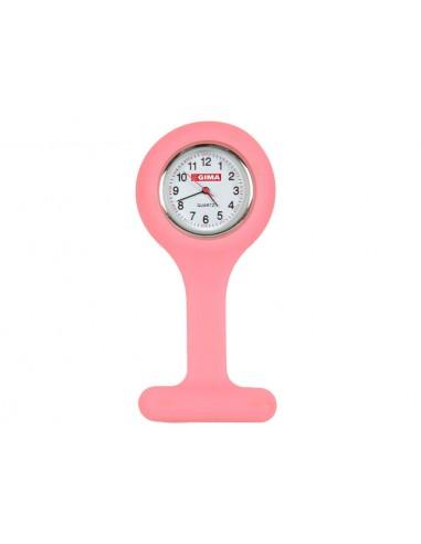 SILICONE NURSE WATCH - round - pink