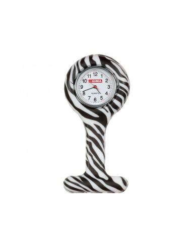 SILICONE NURSE WATCH - round - zebra