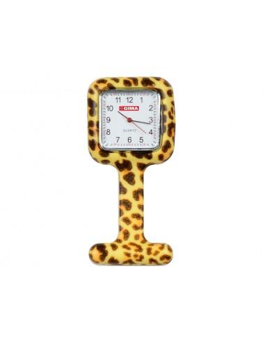 SILICONE NURSE WATCH - square - leopard