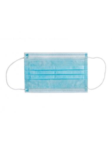 GISAFE MASQUE CHIRURGICAL FILTRANT 98% 3 ÉPAISSEURS type II avec élastiques - pédiatrique - bleu clair - flowpack