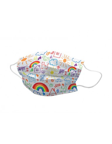 GISAFE 98% FILTERING SURGEON MASK 3 PLY type II with loops - pediatric - cartoon - flowpack