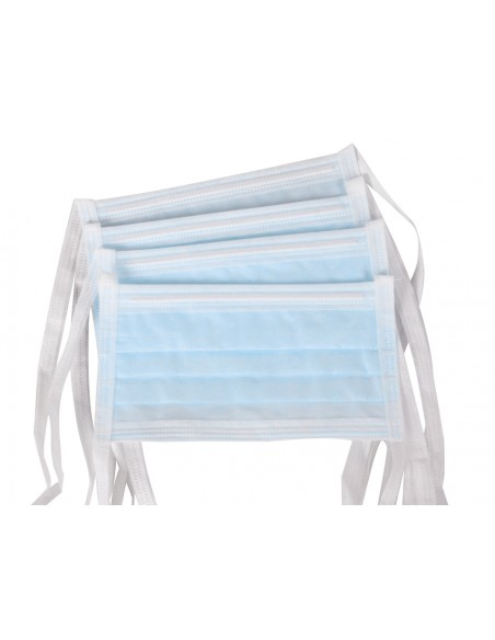 AFLUID 98% FILTERING SURGEON MASK 4 PLY - light blue with lacets - type IIR