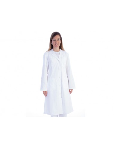 TABLIER MÉDICAL BLANC - coton/polyester - femme taille XS (F36)