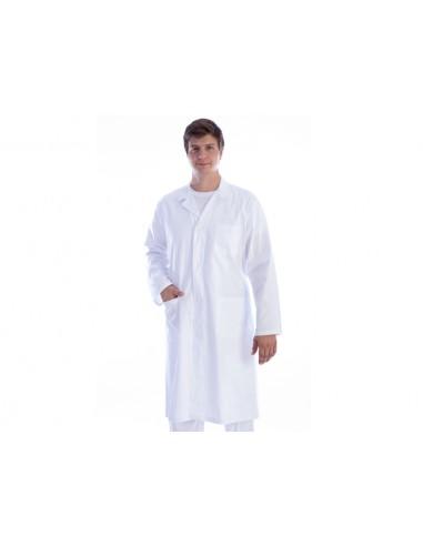 WHITE COAT - cotton/polyester - man size XXL