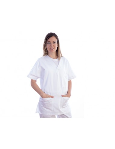 VESTE - coton/polyester - unsexe S blanche