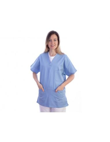 VESTE - coton/polyester - unisexe S bleu clair