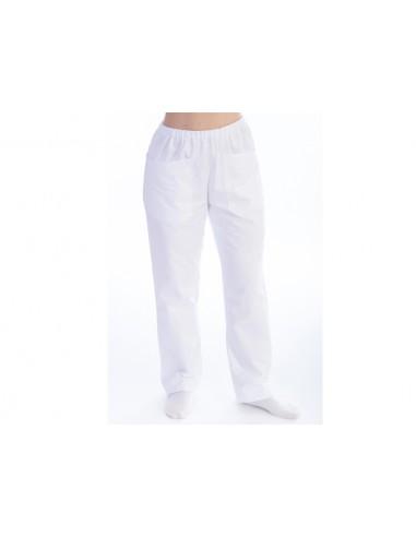 PANTALONS - coton/polyester - unisexe S blancs