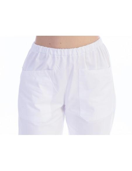 TROUSERS - cotton/polyester - unisex XXXL white