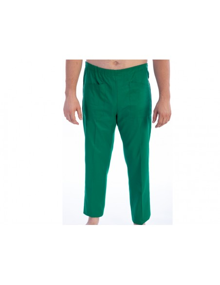 TROUSERS - cotton/polyester - unisex XS green