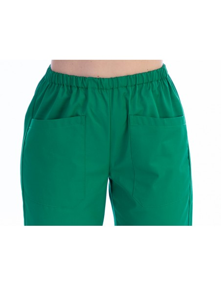 TROUSERS - cotton/polyester - unisex L green
