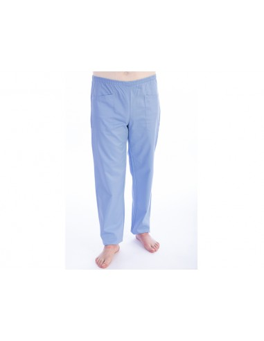 TROUSERS - cotton/polyester - unisex M light blue