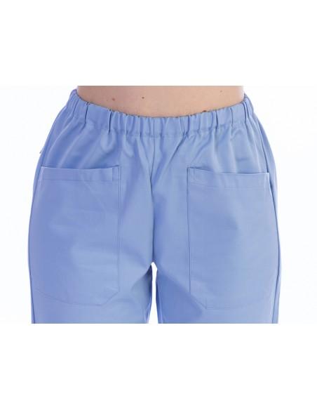 PANTALONI - cotone/poliestere - unisex - taglia M azzurri