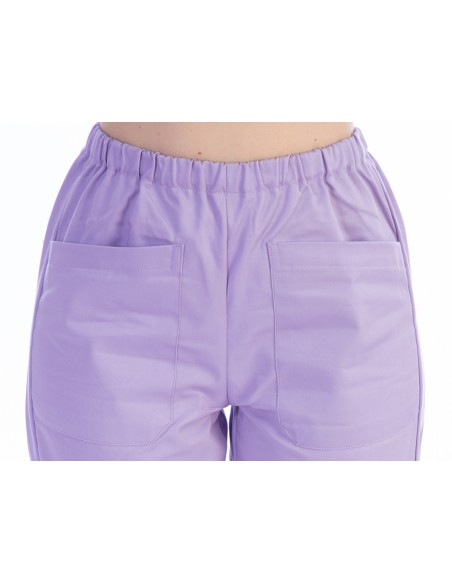 TROUSERS - cotton/polyester - unisex XS violet