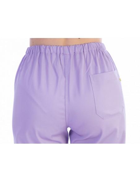 TROUSERS - cotton/polyester - unisex L violet