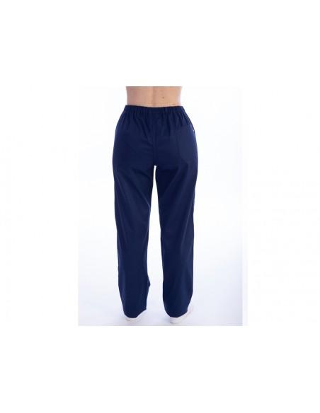PANTALONS - coton/polyester - unisexe M bleu marine