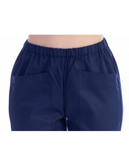 TROUSERS - cotton/polyester - unisex M navy blue