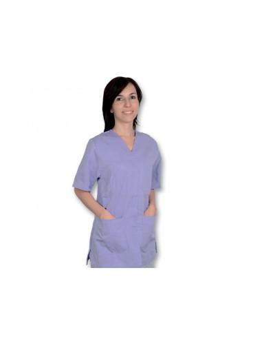 VESTE À BOUTONS PRESSION - coton/polyester - femme L violette