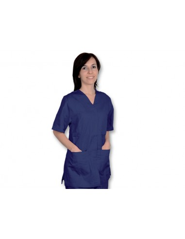 JACKET WITH STUD - cotton/polyester - unisex XXL navy blue