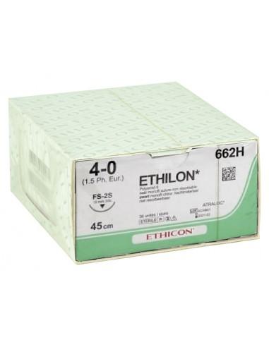 ETHICON ETHILON MONOFILAMENT SUTURES - gauge 4/0 needle 19 mm