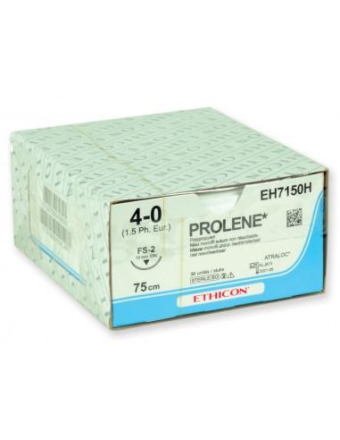 SUTURES MONOFILAMENT ETHICON PROLENE BLUE - capacité 4/0 aiguille 19 mm suture 45 cm