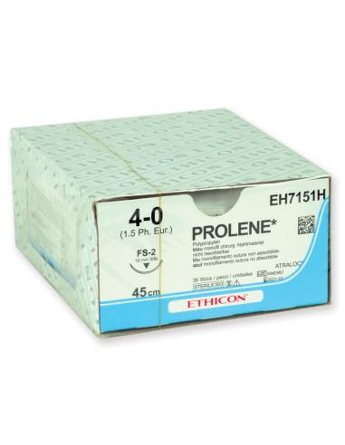ETHICON PROLENE BLUE MONOFILAMENT SUTURES - gauge 4/0 needle 19 mm suture 75 cm