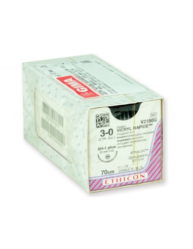ETHICON VICRYL RAPID ABSORBABLE SUTURES - gauge 3/0 needle 22 mm - braided