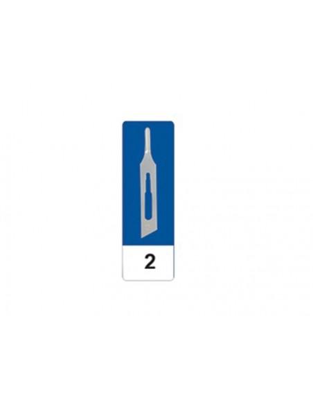 GIMA CARBON STEEL GOUGE BLADES N 2 - sterile