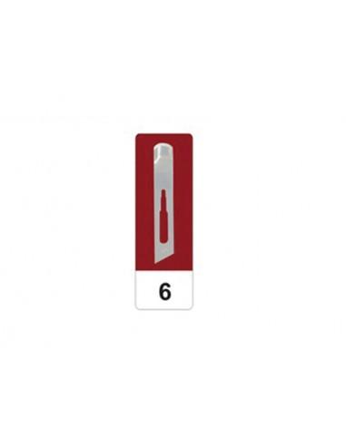 GIMA CARBON STEEL GOUGE BLADES N 6 - sterile