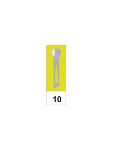 LAMES DE GOUGE EN ACIER CARBONE GIMA N 10 - stériles